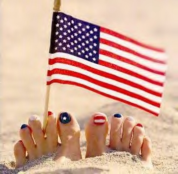 red white blue toe nails in sand File Jul 02, 9 08 46 AM
